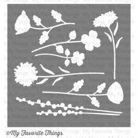 (ST-35)My Favorite Things Wildflowers Stencils [849923000854]
