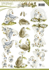 Precious Marieke - CD10620  3D Knipvel - Springtime - Animals