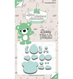 6002/3121 - Snij-embosstencils - LWA - Berry Bear