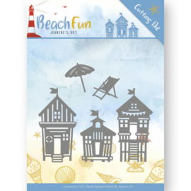 Jeanine's Art - JAD10040 - Beach Fun - Beach Houses