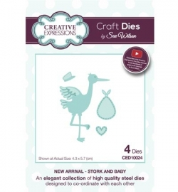 Creative Expressions CED10024 Stork and Baby