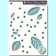 Memorybox stencil 88552 leaf and berry