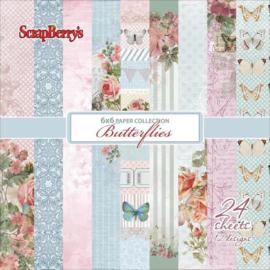 ScrapBerry's Butterflies Paper Set 6x6 Inch 170gsm