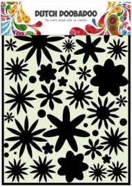 470.715.800 Mask Art stencil flower power 1 A4