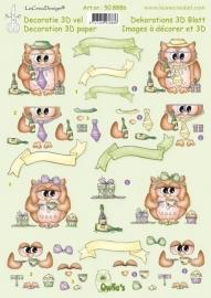 Le Crea Design Knipvel 50.8886 Owlies party