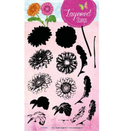 Studio Light - STAMPLS15 Layered Flower Stamps nr.15