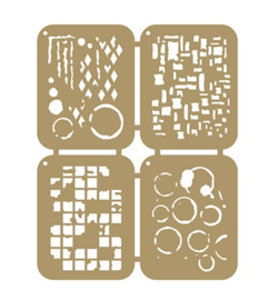 6002/0862 - Scrap Maskstencils - Grunge
