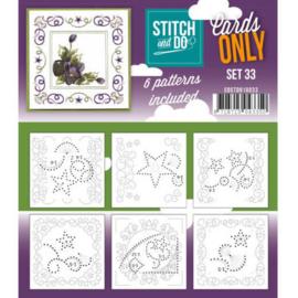 COSTDO10033 Stitch & Do - Cards only - Set 33