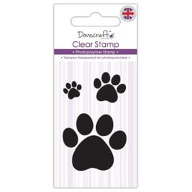 Dovecraft Clear Stamp Paw Prints (DCSTP075)
