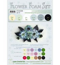 Leane Creatief flower foam 255008 - Set 8 Black-grey colours