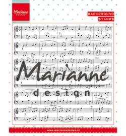 Marianne Design CS0997 - Background: music notes