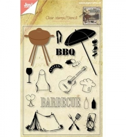 6004/0004  Stamp + Stencil Pakket BBQ