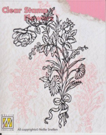 "Clear Stamp ""flowers"" FLO006 ""bouquet of wild flowers-1"""