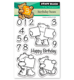 Penny Black clear stamps - Birthday bears 30-427
