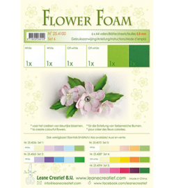 Leane Creatief flower foam 254100 - Set 6 White – Green Colours