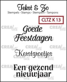 Crealies - Tekst & Zo - Kerst 13 CLTZK13