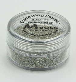 Mboss Embossing powder Gold-Glitter(Special Silver) 390110