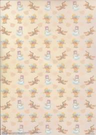 Disney - Vellum - vellumpooh09 Winnie, Tijgertje en sneeuwpop