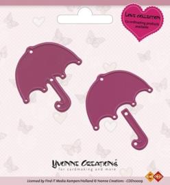 Yvonne Creations - Die - Love Collection - Valentine Umbrella  CDD10009