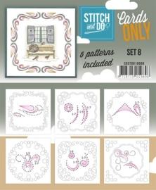 COSTDO10008  Stitch & Do - Cards only - Set 8