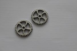 Tandwiel zilver kleurig 15mm