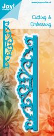 6002/1197 Blauw Border met swirls