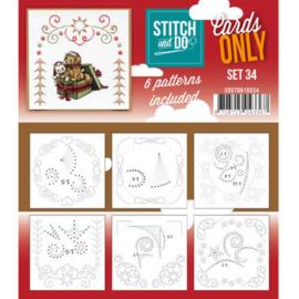COSTDO10034 Stitch & Do - Cards only - Set 34