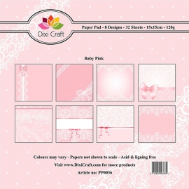 Dixi Craft - Paper Pack Baby Pink PP0036