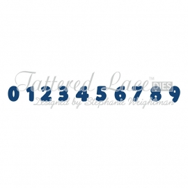 Tattered lace mini Numbers dies DX05