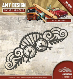 Amy Design - ADD10096 Die - Vintage Vehicles - Tool Border