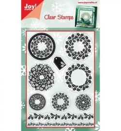 6410/0110 Stempel kerst Wreaths - Christmas