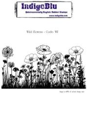 IndigoBlu Wild Flowers Mounted A6 Rubber Stamp