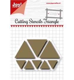6002/1107 - Scrap Snijstencil - Triangles