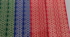 Stickervellen randjes 6 stuks groen, blauw, rood