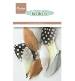 Marianne Design CA3128 Feathers: Natural