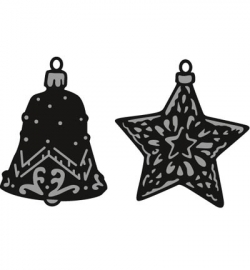 Marianne Design CR1382 Tiny's ornaments star & bell