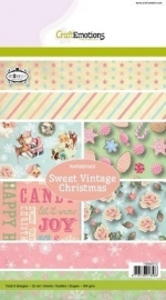 CraftEmotions Paperpack Sweet Vintage Christmas 118040/0112