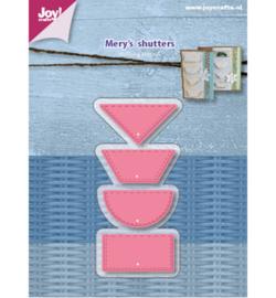 6002/1077 - Snijstencils - Mery shutters