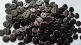 Zwarte knoopjes 10 stuks 11mm