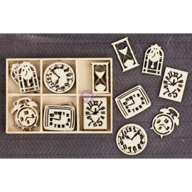 Prima Marketing 569853 - Wood Icons in a Box - Clocks 36pcs