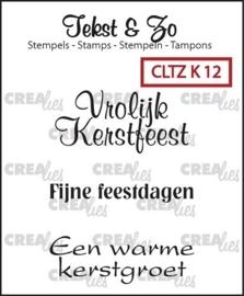Crealies - Tekst & Zo - Kerst 12 CLTZK12