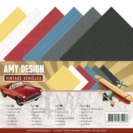 AD-A5-10010 - Linnenpakket - A5 - Amy Design - Vintage Vehicles