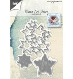 6002/1138 - Snijstencils - Sketch Art - Sterren