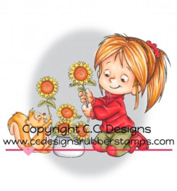 C.C. Designs - RB1094 - Nancy with Sunflowers
