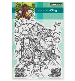 Penny Black Cling stamp - Cottage Treehouse