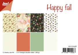 6011/0558 - Papierset - Happy Fall/Mushroom Autumn