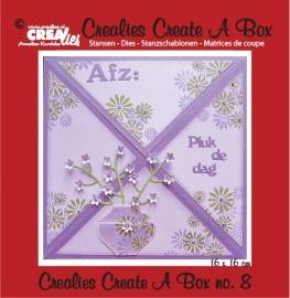 Crealies - Create A Box no. 8 Card box CCAB08