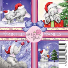 Wild Rose Studio printed panels – Xmas Bella 4 by 4-Inch