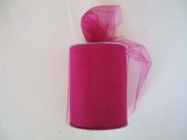 Tule 15 cm breed hard roze