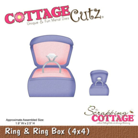CottageCutz Ring & Ring Box (4x4) CC4x4-578